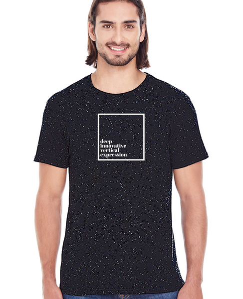 Dive - Unisex Black Tri-blend Fleck Short-Sleeve T-Shirt