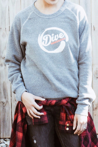 Dive Crew Neck - Grey Unisex Sponge Fleece Crew Neck Sweatshirt