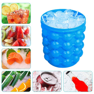 Silicone Ice Cube Maker Bucket