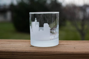 Santa Monica, California Skyline Silhouette Rocks Glass - Urban and Etched