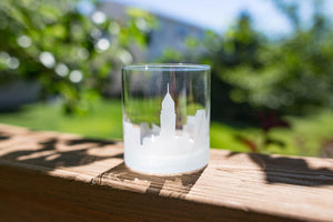 Cleveland, Ohio Skyline Silhouette Rocks Glass - Urban and Etched