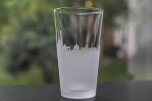 Florence, Italy Skyline Silhouette Pint Glass - Urban and Etched