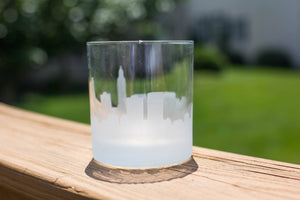 Baton Rouge, Louisiana Skyline Silhouette Rocks Glass - Urban and Etched