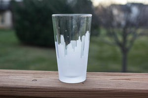 Kansas City, Missouri Skyline Silhouette Pint Glass - Urban and Etched