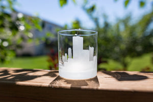 Austin, Texas Skyline Silhouette Rocks Glass - Urban and Etched