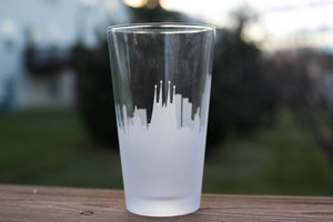 Barcelona, Spain Skyline Silhouette Rocks Glass - Urban and Etched