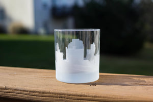 Sarnia, Ontario Skyline Silhouette Rocks Glass - Urban and Etched