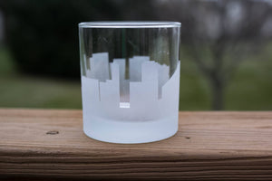 Naples, Italy Skyline Silhouette Rocks Glass - Urban and Etched