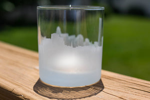Buffalo, New York Skyline Silhouette Rocks Glass - Urban and Etched