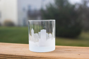 Raleigh, North Carolina Skyline Silhouette Rocks Glass - Urban and Etched