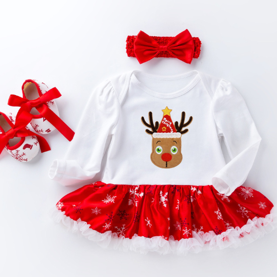 MY FIRST CHRISTMAS BABY OUTFIT