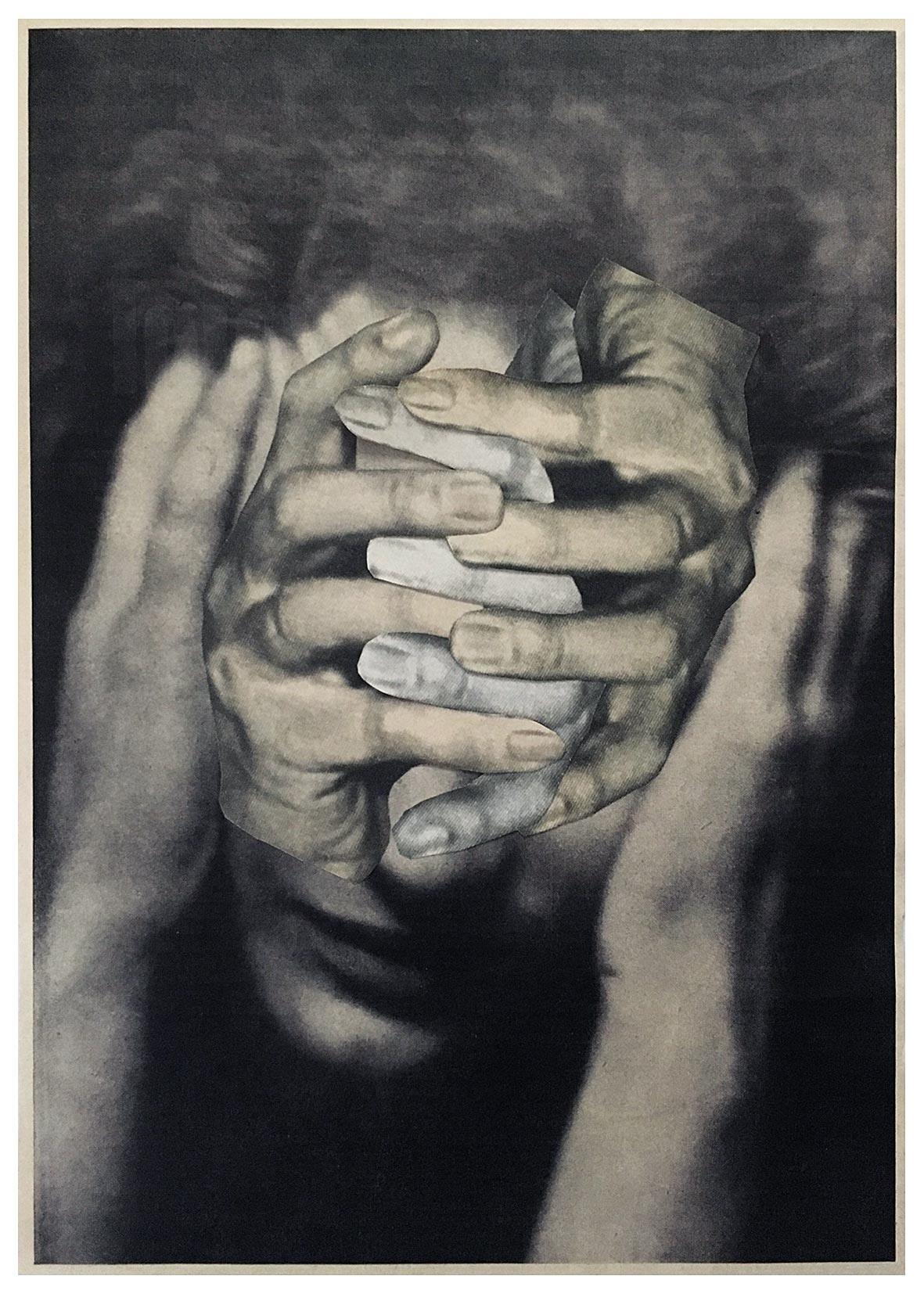 Untitled (woman, face, five hands)