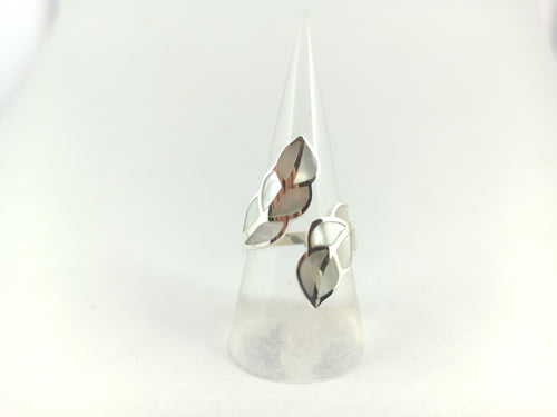Mother of Pearl Leaf Ring