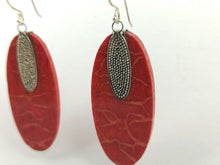 Load image into Gallery viewer, Coral Silver Earring