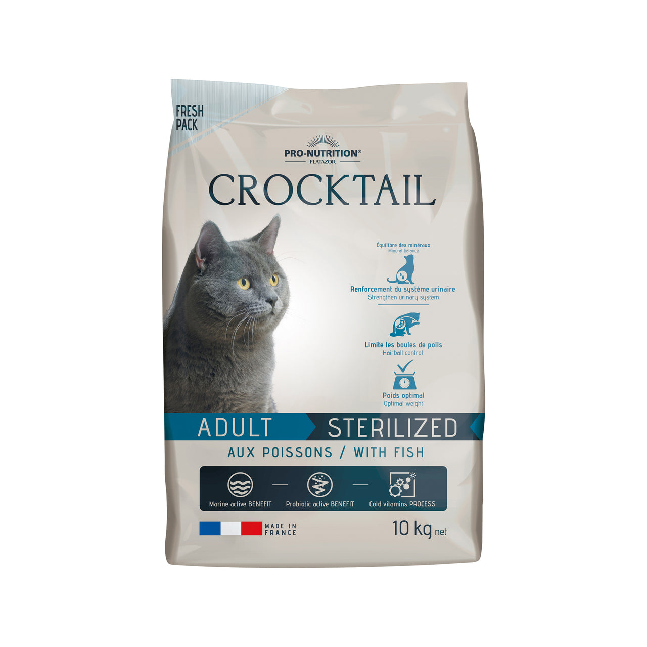 Crocktail Adult Sterilized Fish 10kg
