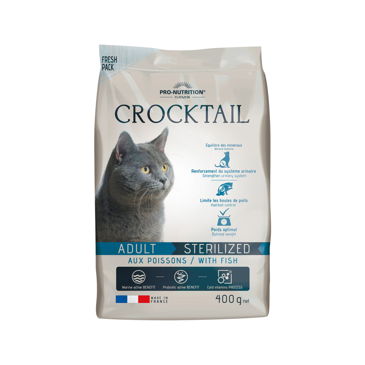 Crocktail Adult Sterilized Fish 400g