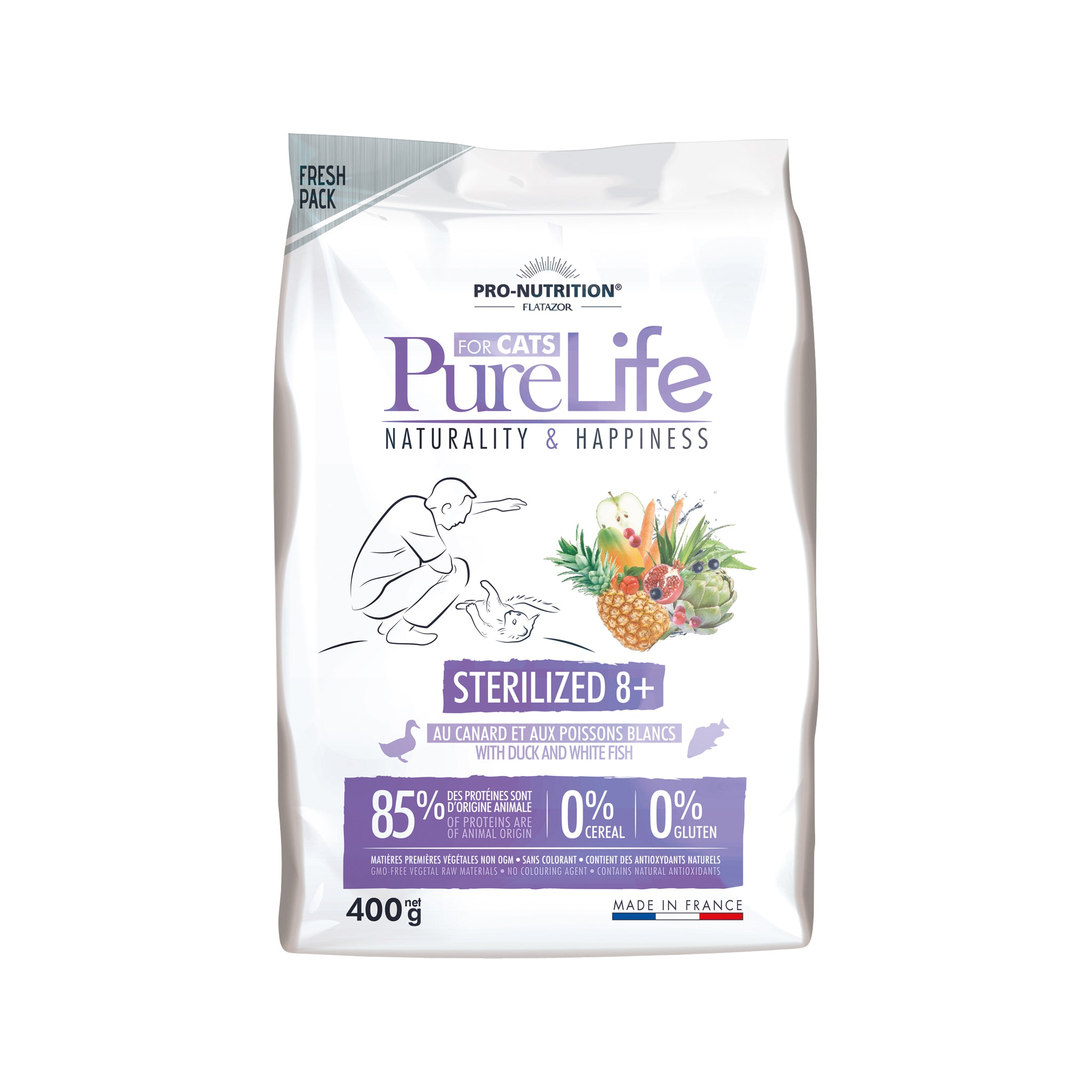 Purelife Cat Sterili. 8+ 400g