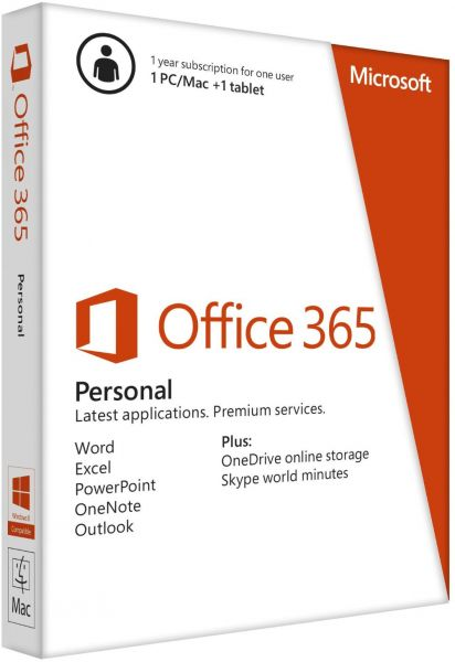 Office 365 Personal - 1 Year, Single User.