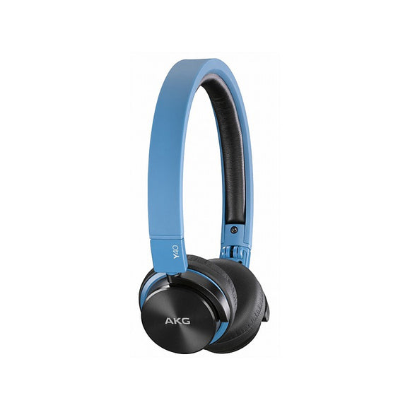 AKG Y40 High-Performance Foldable Over The Ear Headset - Blue