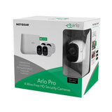 Arlo Pro 4-Camera Indoor/Outdoor Wireless 720p Security Camera System - White