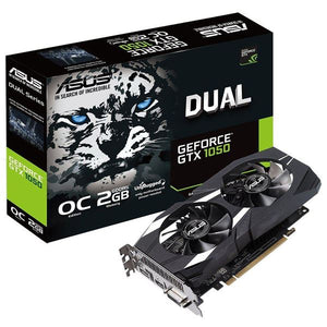 ASUS DUAL-GTX1050-O2G-V2 2GB GDDR5 Graphics Card