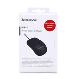 Lenovo M110 Wired USB Optical Mouse - Black
