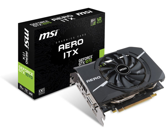 MSI GeForce GTX 1070 Ti AERO 8G 8GB GDDR5 Graphics Card
