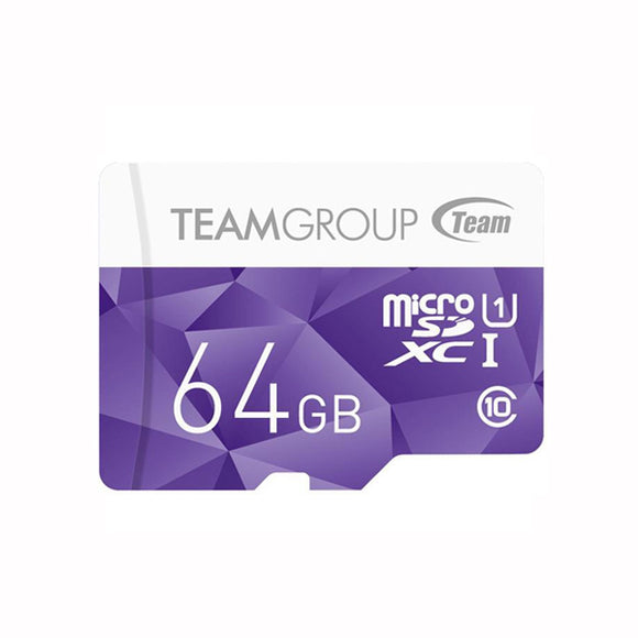 64GB Class 10 Micro SDHC UHS-1 with Adapter - TEAM