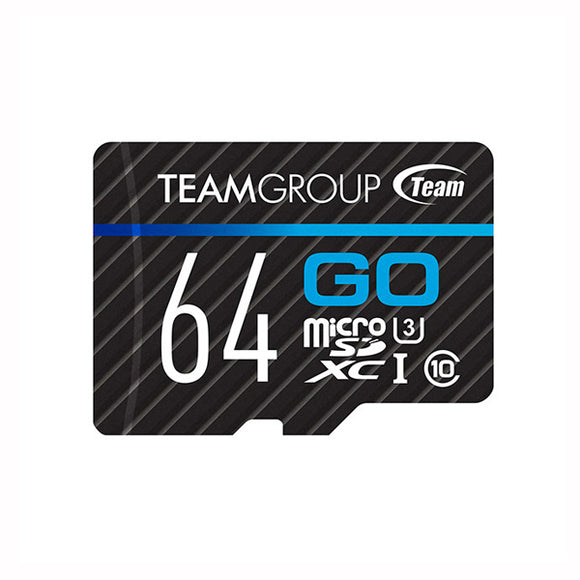 64GB Class 10 UHS-I MicroSD with Adapter - TEAM - GO Card