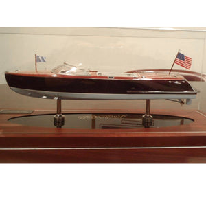 Hacker-Craft 27′ Sport Boat Model - Dark Stain