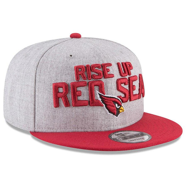 426a8e5f6bf Youth Arizona Cardinals New Era Heather Gray Cardinal 2018 NFL Draft  Official On-Stage