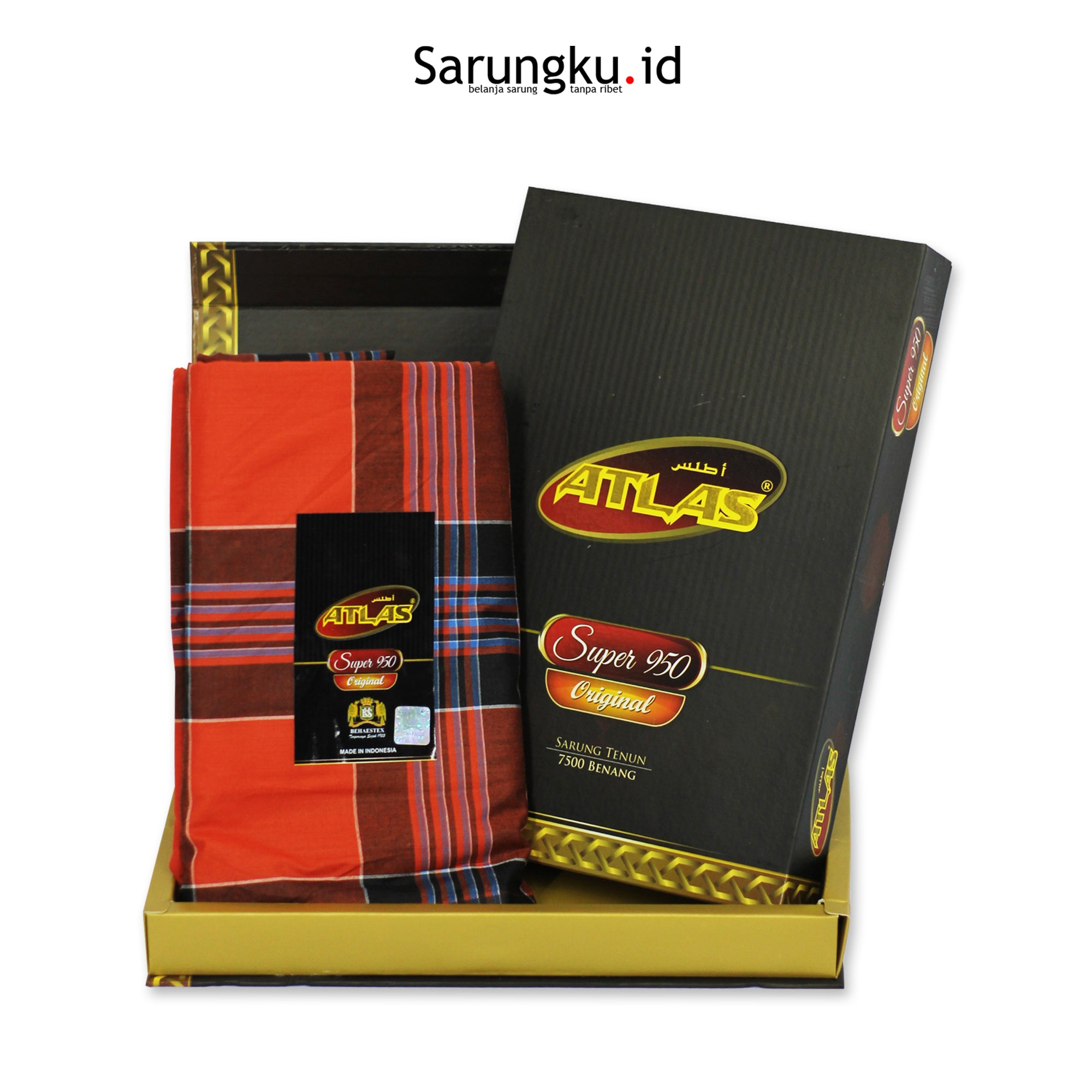 SARUNG ATLAS SUPER 950 ORIGINAL ECER/GROSIR-10PCS