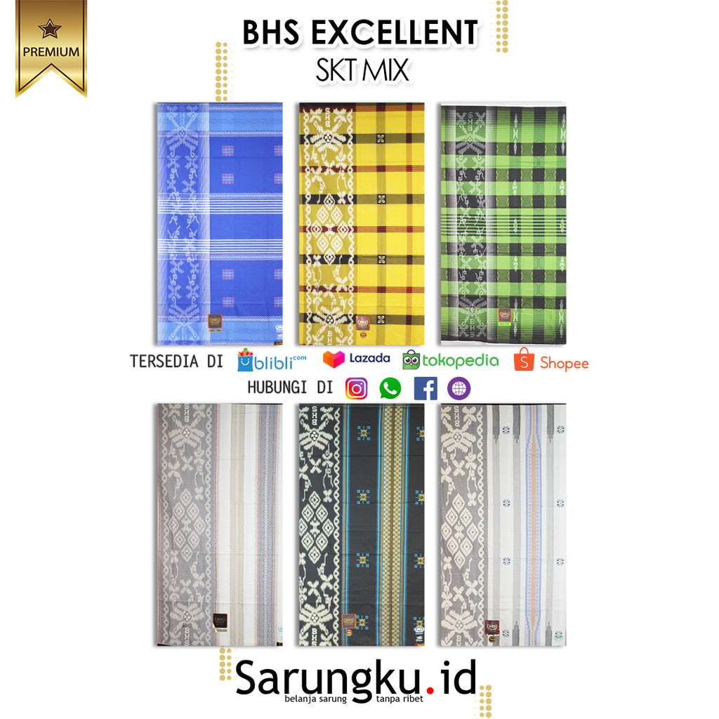 SARUNG BHS EXCELLENT SKT MIX ECER/GROSIR 10-PCS