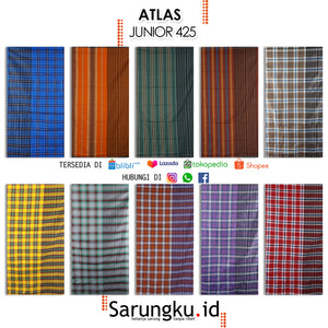 SARUNG ATLAS JUNIOR 425  ECER/GROSIR 10-PCS