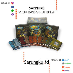 SARUNG SAPPHIRE JACQUARD SUPER DOBY (JSD)