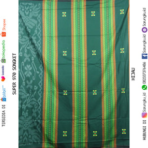 SARUNG ATLAS SUPER 970 SONGKET ECER/GROSIR-10PCS