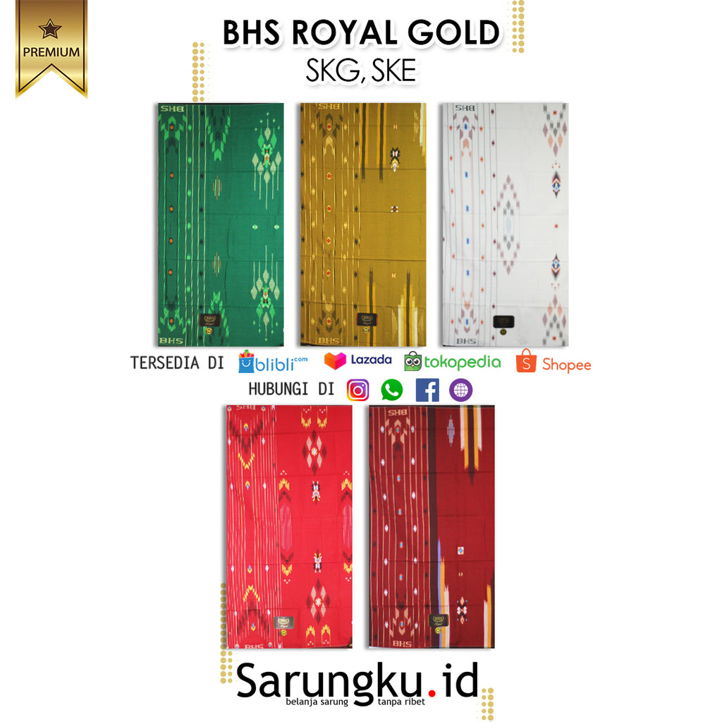 SARUNG BHS ROYAL GOLD SKG, SKE ECER/GROSIR 10-PCS