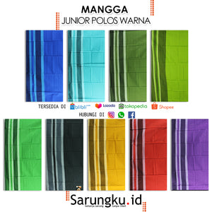 SARUNG MANGGA JUNIOR POLOS WARNA  ECER/GROSIR 10-PCS