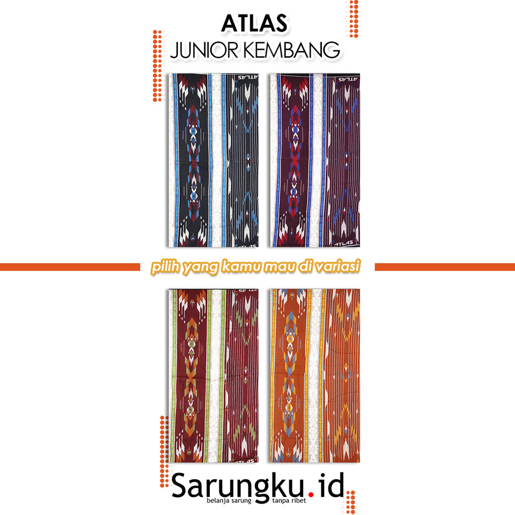 SARUNG ATLAS JUNIOR KEMBANG