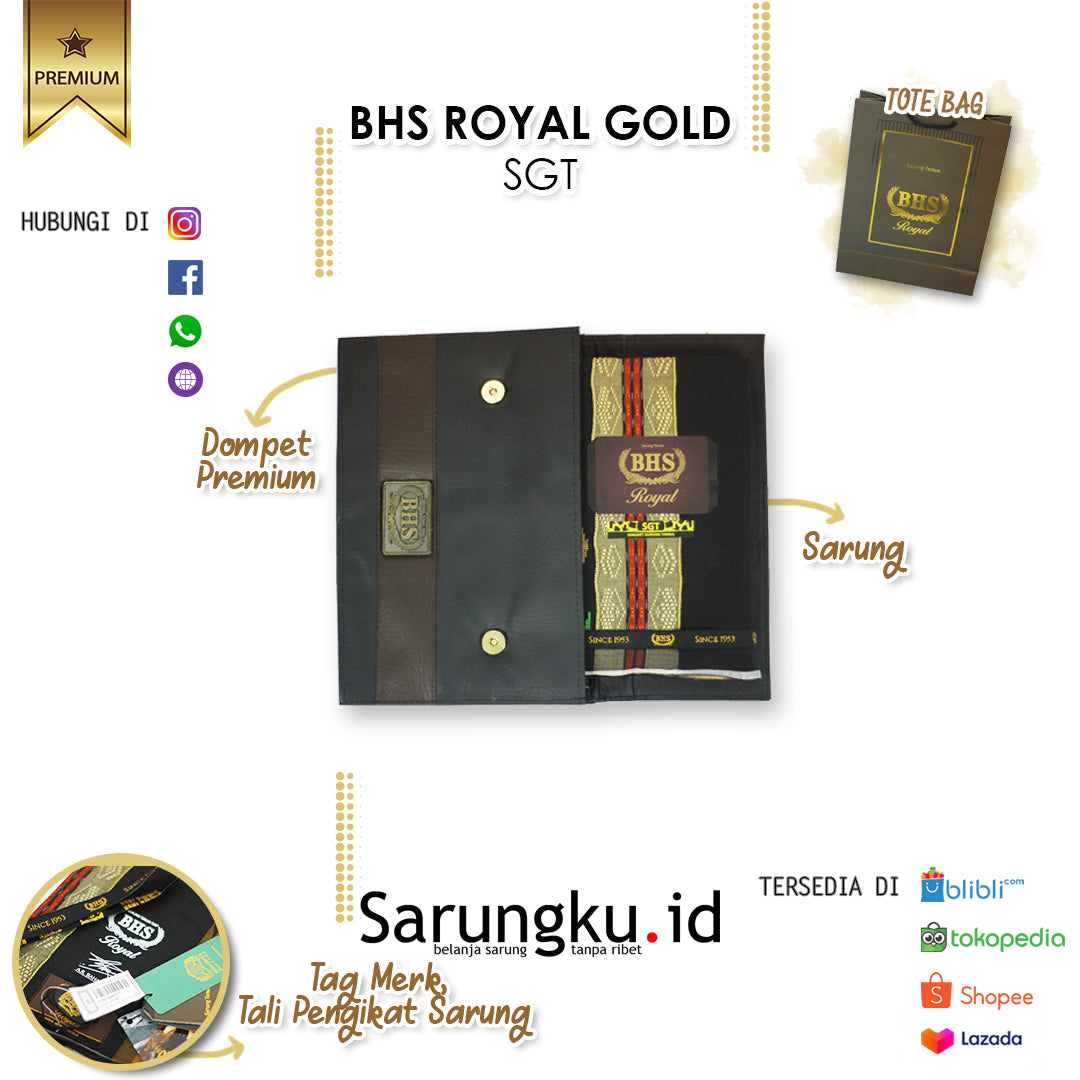 SARUNG BHS ROYAL GOLD SGT