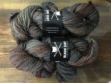 Load image into Gallery viewer, Black Cat Custom Yarn | Bulky weight | Stay Puft | 80% SW Merino 20% Nylon | 140 yards | 113 grams