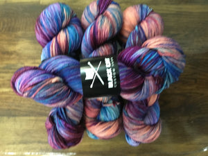 Black Cat Custom Yarn | Worsted Weight | Let's Get Worsted | 100% Superwash Merino | 205 yards | 113 grams