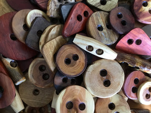 Nature's Wonders Wooden button mix