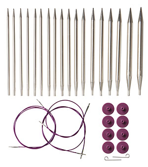 Knit Picks Options Interchangeable Nickel Plated Circular Knitting Needle Set