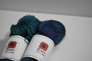 Poppy Yarn | Fingering weight | Gobi Fingering | 65% Merino, 20% Yak, 15% Silk | 438 yards | 100 grams