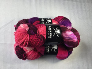 Black Cat Custom Yarn | Fingering Weight | Everyday Sock | 80% SW Merino, 20% Nylon | 400 yards | 113 grams