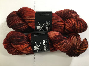 Black Cat Custom Yarn | Bulky weight | Stay Puft | 80% SW Merino 20% Nylon | 140 yards | 113 grams