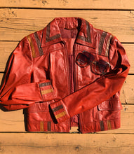 Load image into Gallery viewer, Multi-Color Leather Jacket