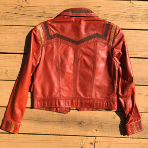 Multi-Color Leather Jacket