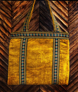 Crushed Velvet Gold Tote